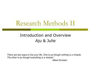 Research Methods II