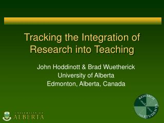 Tracking the Integration of Research into Teaching
