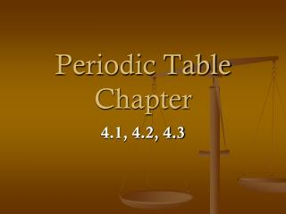 Periodic Table Chapter
