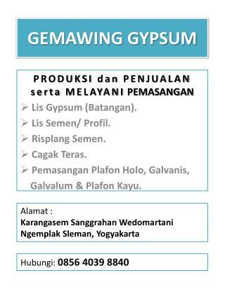 GEMAWING GYPSUM
