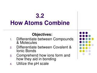 3.2  How Atoms Combine