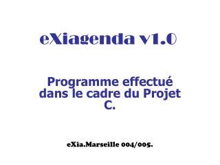 eXiagenda v1.0