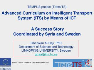 TEMPUS project (TransITS)