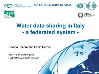 Water data sharing in Italy  - a federated system -