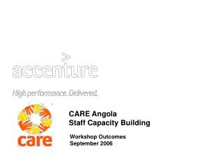 CARE Angola Staff Capacity Building