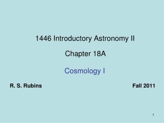1446 Introductory Astronomy II Chapter 18A