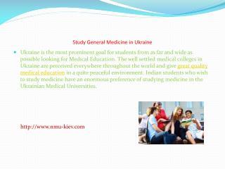 Study General Medicine in Ukraine
