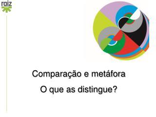 Comparação e metáfora O que as distingue?