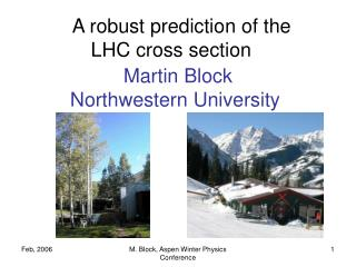 A robust prediction of the  LHC cross section