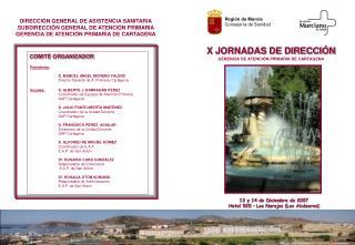 X JORNADAS DE DIRECCIÓN GERENCIA DE ATENCIÓN PRIMARIA DE CARTAGENA