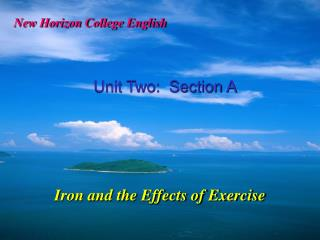 Iron and the Effects of Exercise