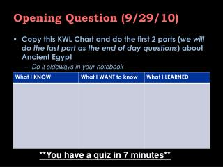Opening Question (9/29/10)