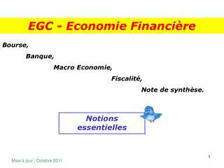 Bourse,            Banque,                         Macro Economie,