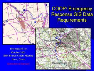 COOP/ Emergency Response GIS Data Requirements
