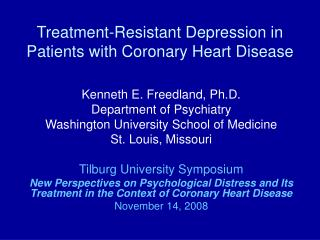Treatment-Resistant Depression in Patients with Coronary Heart Disease