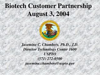 Biotech Customer Partnership August 3, 2004