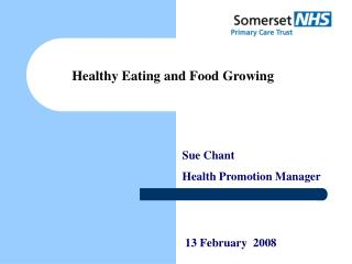 Sue Chant Health Promotion Manager