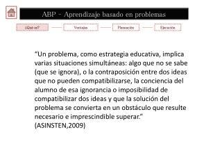 ABP – Aprendizaje basado en problemas