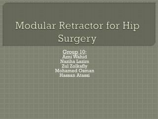Modular Retractor for Hip Surgery