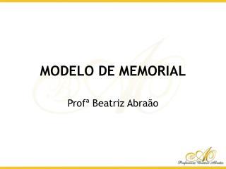 MODELO DE MEMORIAL