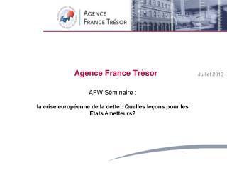 Agence  France  Tr�sor