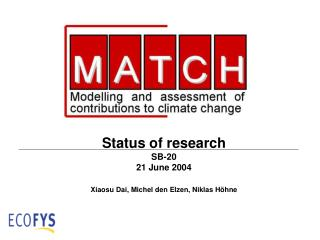 Status of research SB-20  21 June 2004