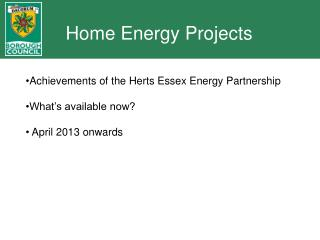 Home Energy Projects