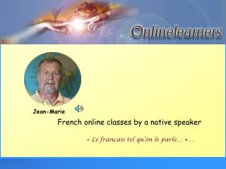 French online classes by a native speaker