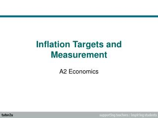Inflation Targets and Measurement