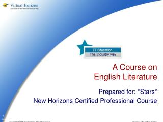 A Course on  English Literature