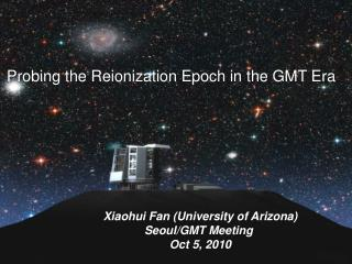 Probing the Reionization Epoch in the GMT Era