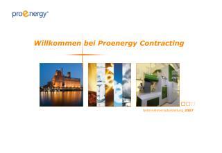 Willkommen bei Proenergy Contracting