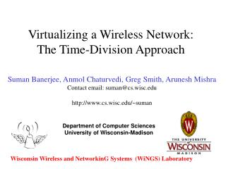Virtualizing a Wireless Network: The Time-Division Approach
