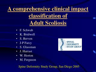 A comprehensive clinical impact classification of  Adult Scoliosis