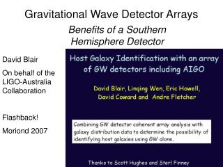 Gravitational Wave Detector Arrays