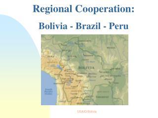 Regional Cooperation:  Bolivia - Brazil - Peru