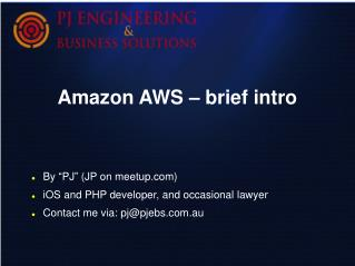 Amazon AWS – brief intro