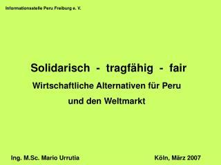 Informationsstelle Peru Freiburg e. V.