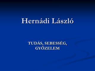 Hernádi László