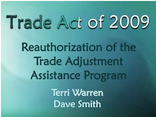 Trade Act of 2009