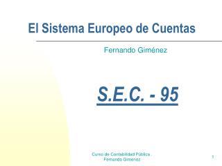 El Sistema Europeo de Cuentas