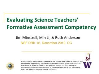 Evaluating Science Teachers' Formative Assessment Competency