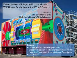 Determination of integrated Luminosity via W/Z Boson Production at the ATLAS Detector CERN 2011