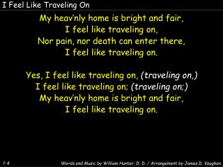 I Feel Like Traveling On