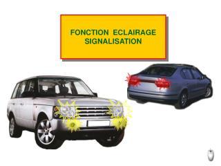 FONCTION  ECLAIRAGE  SIGNALISATION