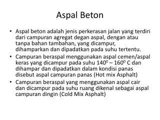 Aspal Beton