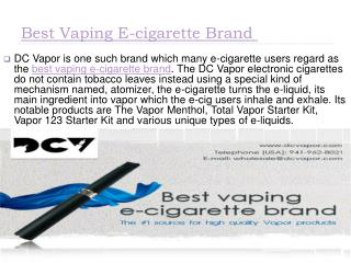 Electronic Cigarettes Maryland