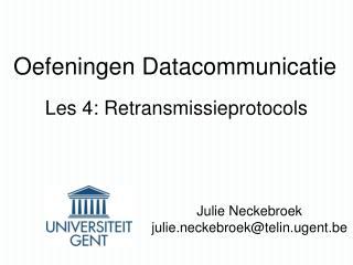 Oefeningen Datacommunicatie