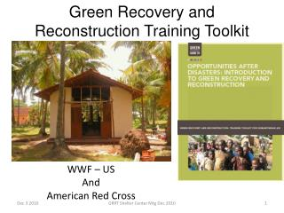 Green Recovery and Reconstruction Training Toolkit