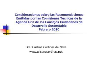 Dra. Cristina Cortinas de Nava cristinacortinas